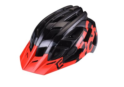 Prilba Extend FACTOR black-red S/M (55-58cm) shine